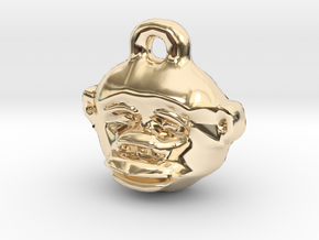 Great Ape Pendant in 14k Gold Plated Brass