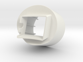 Aillio Bullet R1 Roaster - Exhaust Adaptor 80mm in White Natural Versatile Plastic