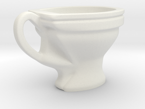 Toilet coffee cup in White Natural Versatile Plastic