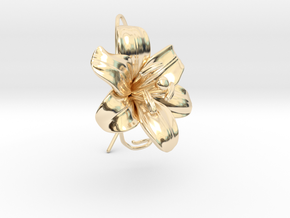 AirCharm Lily Flower - Left in 14K Yellow Gold