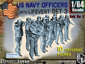 1-64 USN Officers KAPOK Set3 in Smooth Fine Detail Plastic