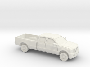 1/87 2005 Ford F 350  Crew Cab Long Bed in White Natural Versatile Plastic