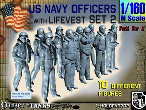 1-160 USN Officers KAPOK Set2 in Smoothest Fine Detail Plastic