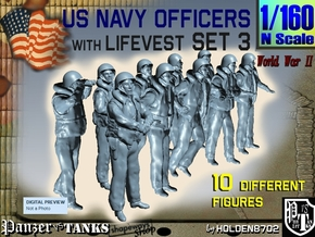 1-160 USN Officers KAPOK Set3 in Frosted Extreme Detail