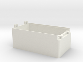 SmartBox 3xAAA-25mm V8 (Battery Arduino, ESP8266) in White Natural Versatile Plastic