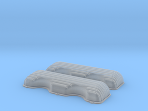 1/12 409 Finned Valve Covers File in Smooth Fine Detail Plastic