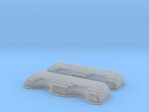 1/25 409 Finned Valve Covers File in Smooth Fine Detail Plastic