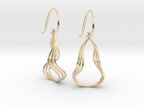 Gentle Flow - Precious Metal Earrings in 14k Gold Plated Brass