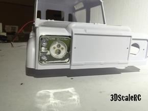 Scale RC Land Rover Defender LED Headlight - A in White Processed Versatile Plastic