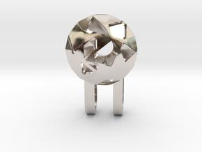 Tiny Phone Lamp - Diamond - S in Platinum