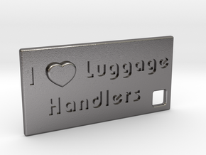 I Heart Luggage Handlers in Polished Nickel Steel