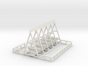 Schiffschaukel 5 Gondeln in White Natural Versatile Plastic