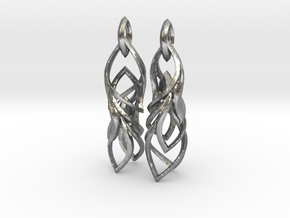 Peifeather Earrings in Natural Silver (Interlocking Parts)