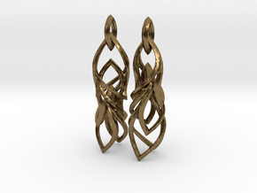 Peifeather Earrings in Natural Bronze (Interlocking Parts)