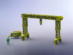 German 16to Strabo Crane 1/220 Z-Scale in Smooth Fine Detail Plastic