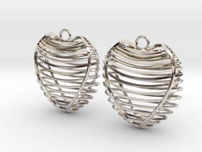 Heart cage in Platinum