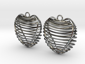 Heart cage in Polished Silver