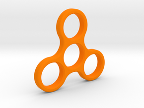 EDC Spinner 2016 in Orange Strong & Flexible Polished