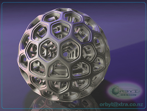 Radiolarian Sphere 2 in White Strong & Flexible