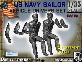 1-35 USN Sailor Driver Set1 in Smooth Fine Detail Plastic