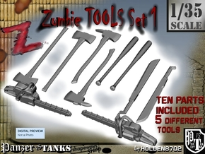 1-35 Zombie Tools Set 001 in Frosted Ultra Detail
