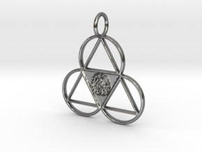 The Meta-Mind Pendant in Premium Silver