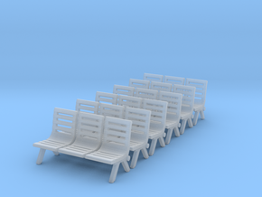Modern Seat - Type 2 X 6 in Smooth Fine Detail Plastic: 1:76