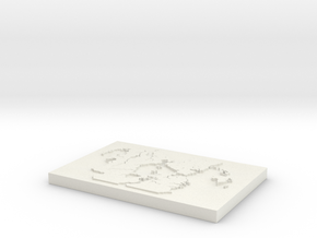 Midgard Map in White Natural Versatile Plastic