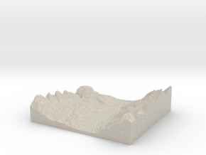 Model of Warspite Creek in Natural Sandstone