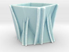 Paper Cup  in Gloss Celadon Green Porcelain