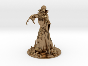 Mind Flayer Miniature in Natural Brass: 1:60.96