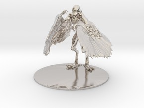 Aarakocra Miniature in Rhodium Plated Brass: 1:60.96