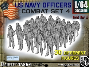 1-64 USN Officers KAPOK Set4 in Smooth Fine Detail Plastic