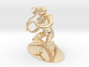 Demogorgon Miniature in 14k Gold Plated Brass: 1:60.96