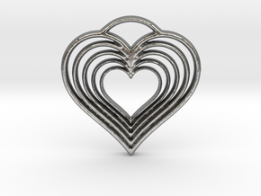 Hearts in Hearts in Natural Silver