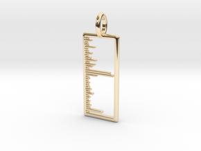Mass Spectrum Pendant - Science Jewelry in 14K Yellow Gold