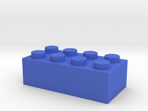 Toy Brick Standard size 2x4 in Blue Strong & Flexible Polished