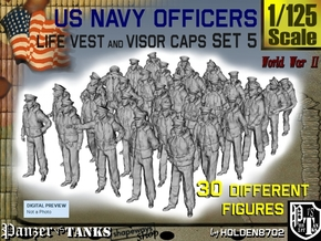 1-125 USN Officers KAPOK Set5 in Smooth Fine Detail Plastic