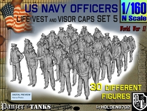 1-160 USN Officers KAPOK Set5 in Smoothest Fine Detail Plastic