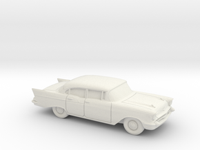 1/87 1957 Chevrolet One Fifty Sedan in White Strong & Flexible