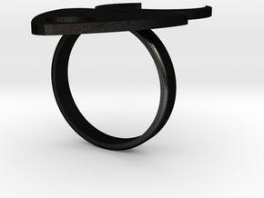 Fiona Ring 9 1/2 in Matte Black Steel: 9.5 / 60.25