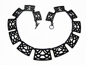 Trellis Statement Necklace - Ready to wear. in Black Strong & Flexible