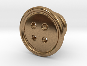 Button Tuxedo Stud - SINGLE in Natural Brass