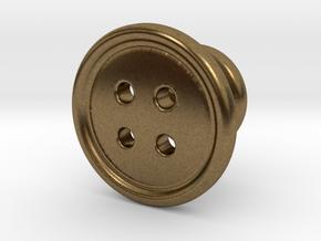 Button Tuxedo Stud - SINGLE in Natural Bronze
