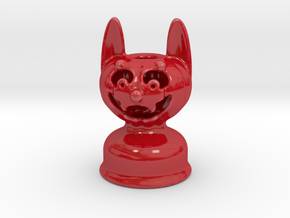 Werewolf Pumpkin Light Halloween in Gloss Red Porcelain