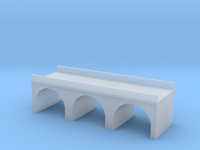 (1:450) Triple Arch Double Track 60mm Bridge in Smooth Fine Detail Plastic
