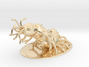 Carrion Crawler Miniature in 14k Gold Plated: 1:60.96