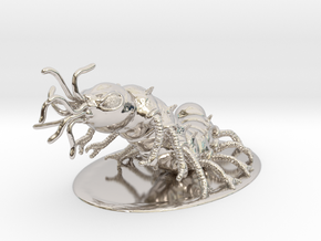 Carrion Crawler Miniature in Rhodium Plated Brass: 1:60.96