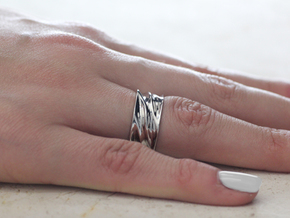 Tidal Ring in Rhodium Plated Brass: 7 / 54