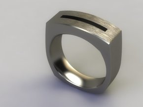 Slot in Polished Nickel Steel